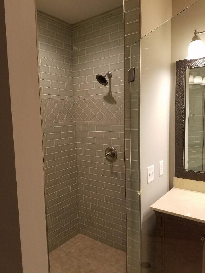 Johnson grey tile shower