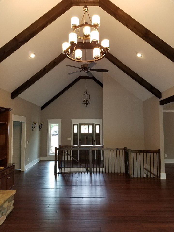 Johnson living room & ceiling beams