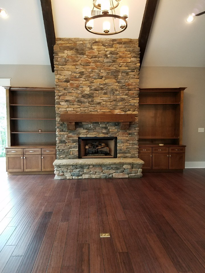 Johnson living room fireplace