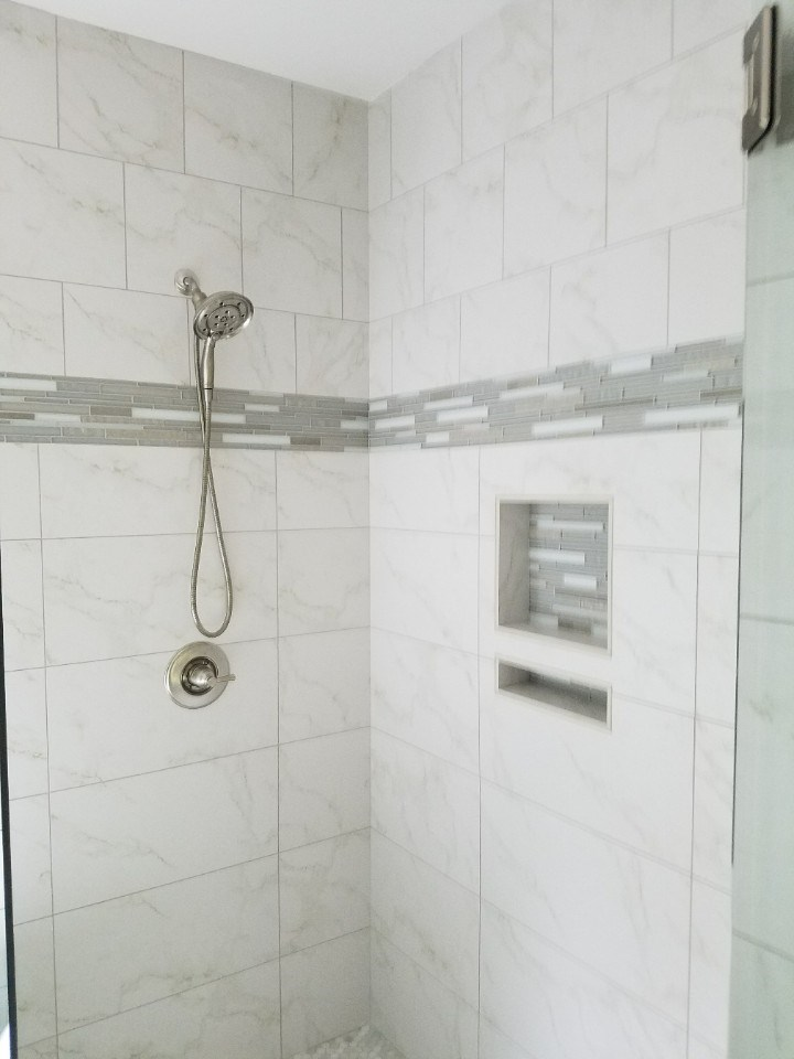 Johnson master shower tile