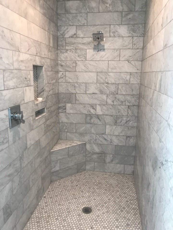 Vickers walk in shower tile