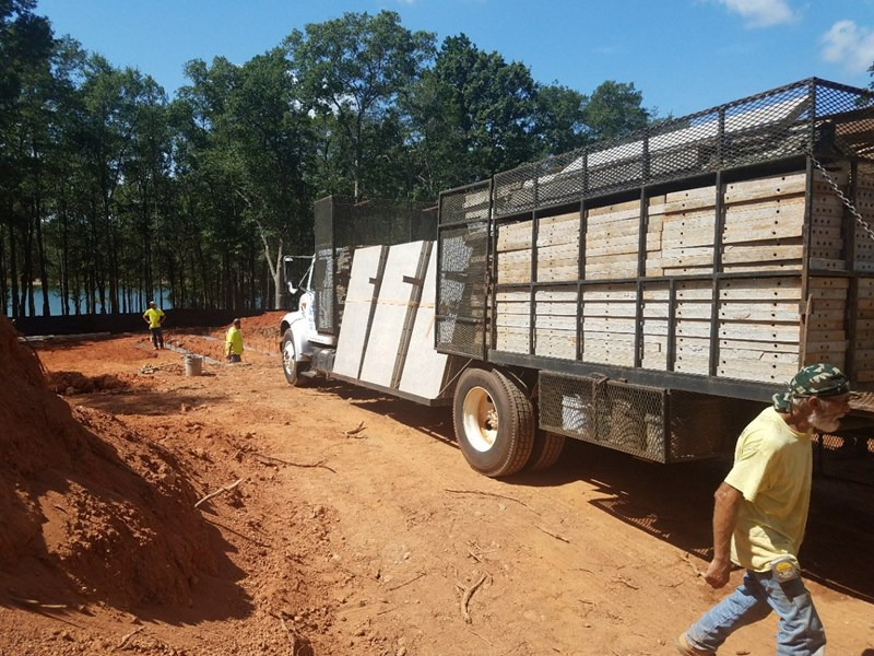 Delivery of wall forms