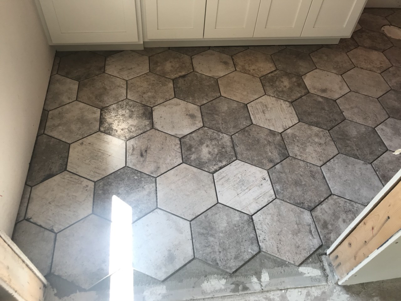 7-hexagon tile in another bath