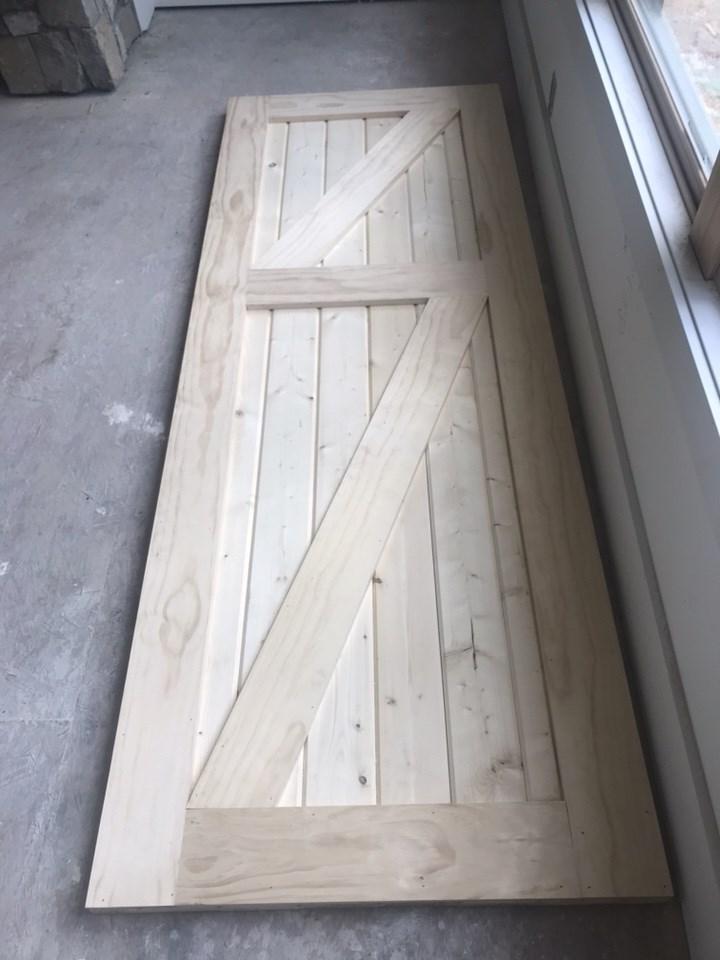 3-barn style door