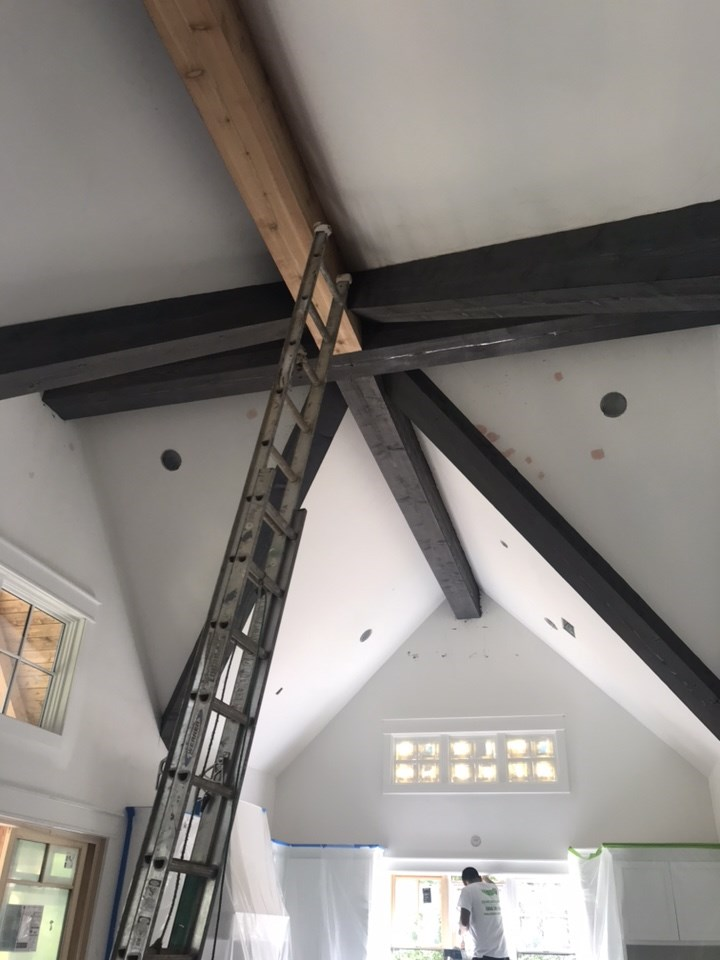 1-staining the beams