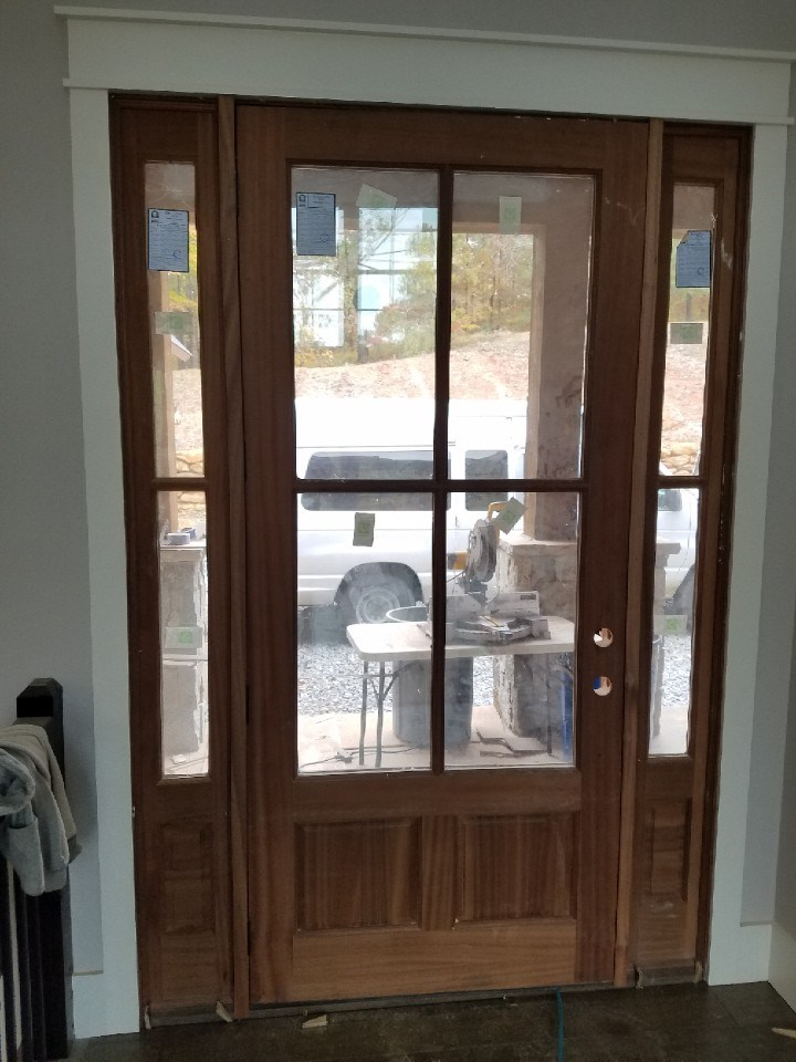 3-entry door stained