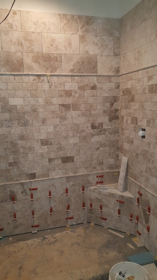 2-shower tile install