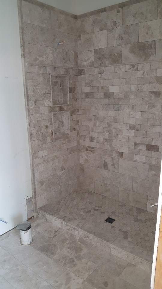 5-shower tile completed