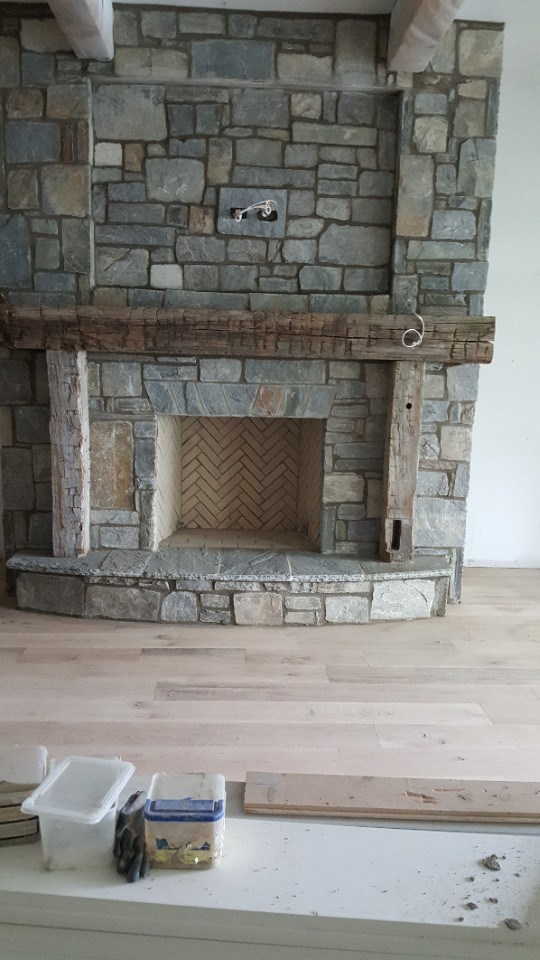 8-fireplace with srone and mantle